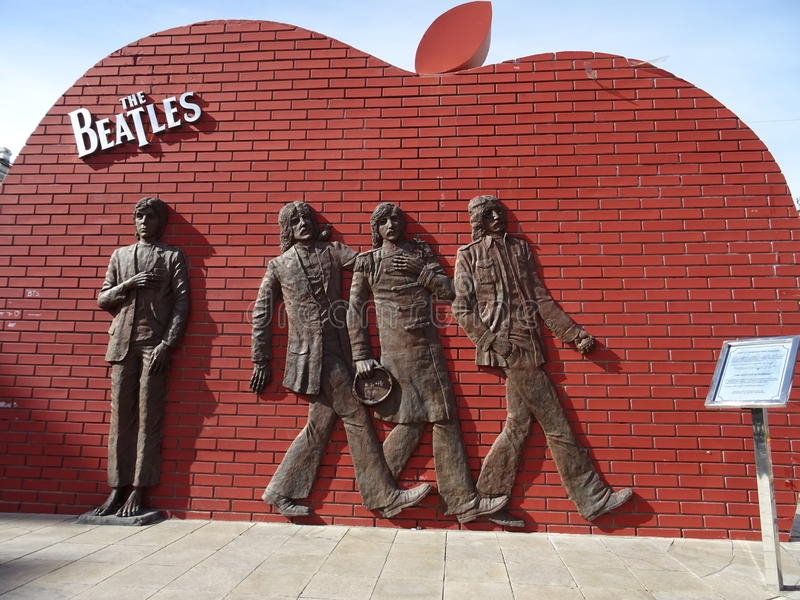 The beatles statue in Mongolia royalty free stock image