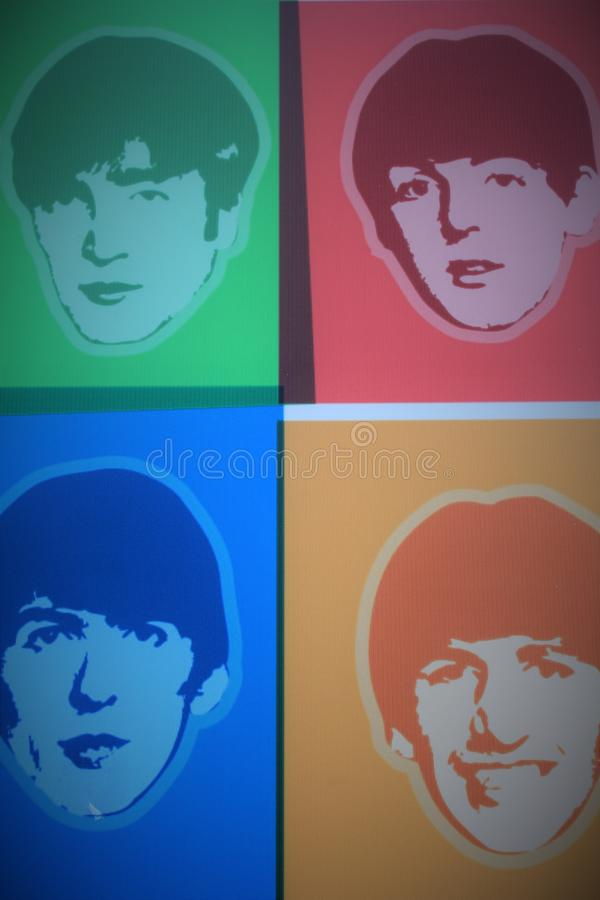 The Beatles Story Exhibition in Liverpool, in the UK royalty free stock photos
