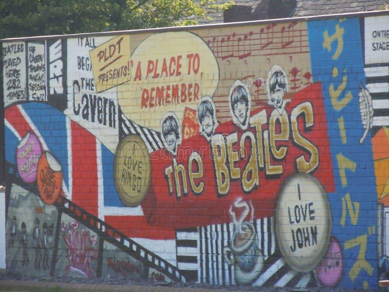 Beatles väggmålning royaltyfri fotografi