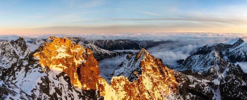Beatutifuldag in Rysy, Tatras royalty-vrije stock afbeeldingen