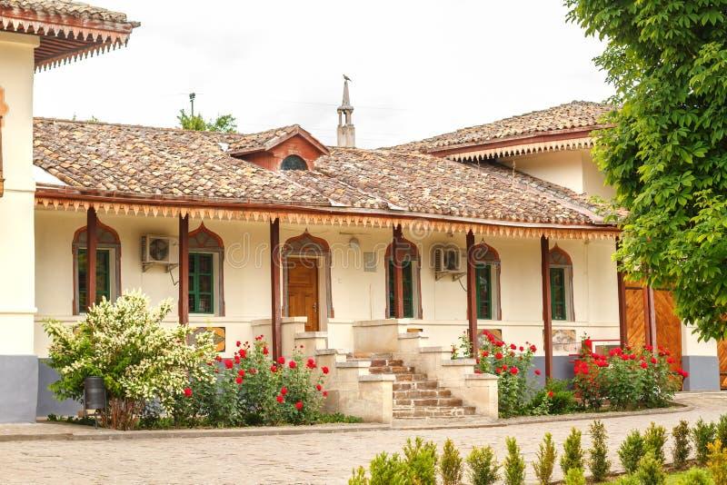 Beau bâtiment de palais du ` s de Khan dans Bakhchisarai image libre de droits