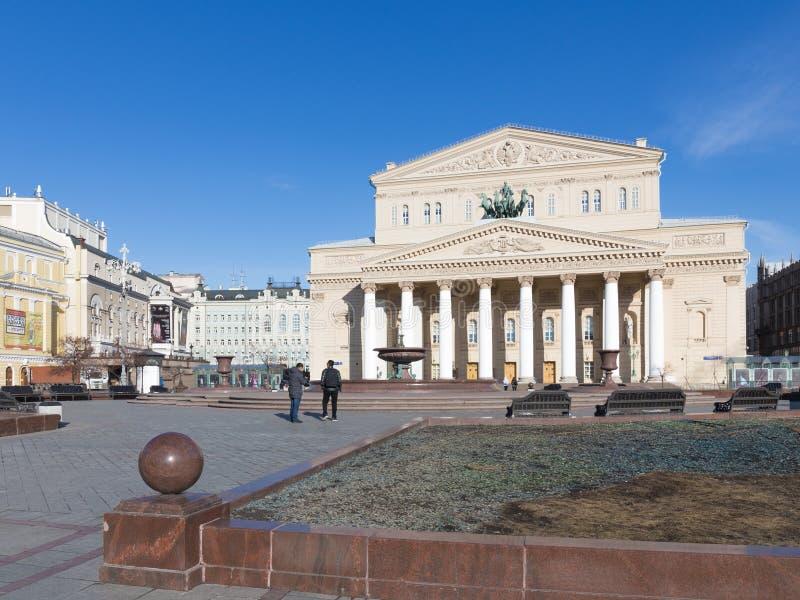 Beau bâtiment du théâtre de Bolshoi, Moscou photos stock