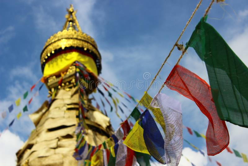 Beau bâtiment religieux au Népal photographie stock libre de droits