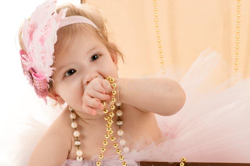 Beau bébé féminin de portrait photographie stock libre de droits