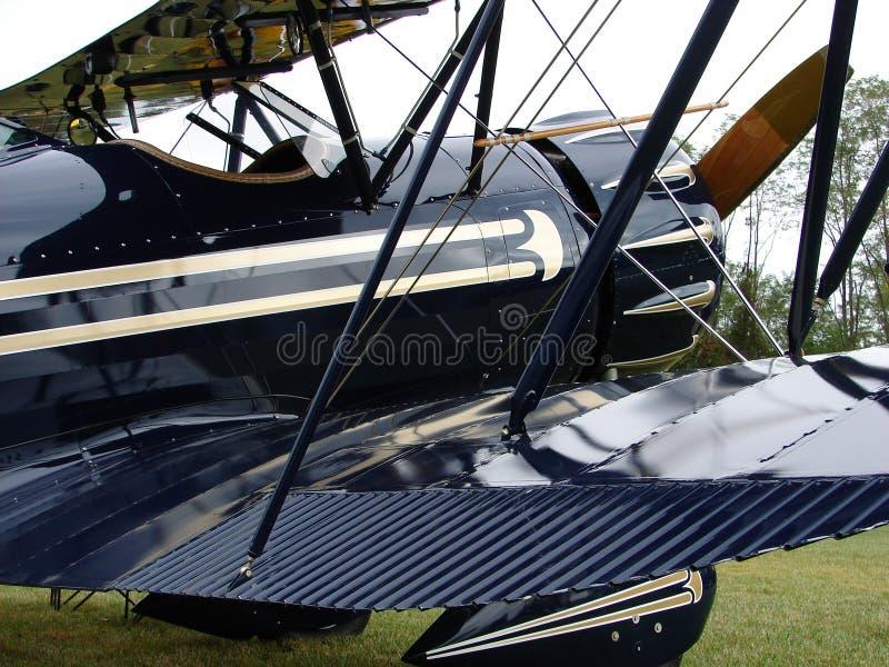 Beau biplan de l'antiquité YMF-5 Waco image libre de droits