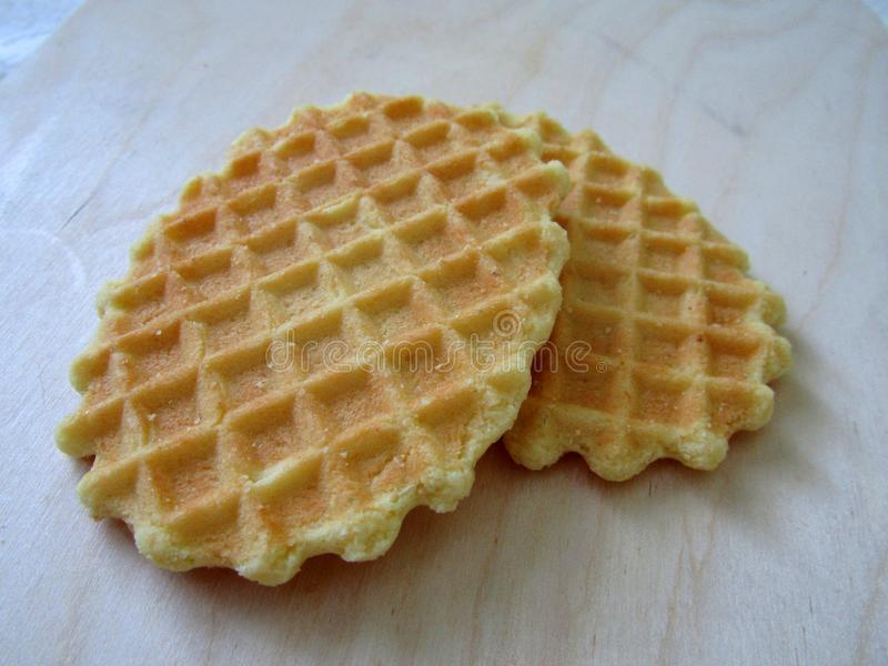 Beau biscuit de gaufre photo stock