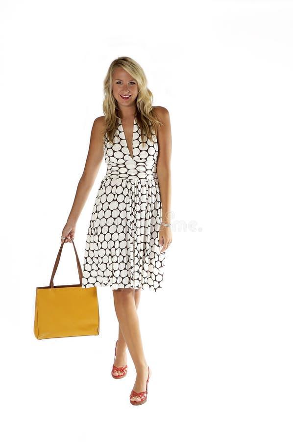 Beau blond, modèle de mode photographie stock