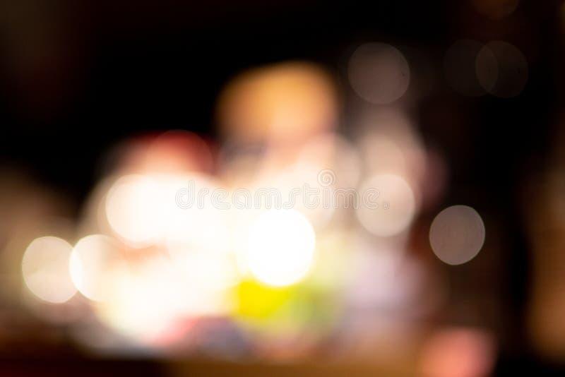 Beau bokhe léger brouillé pour la matière de base photo stock