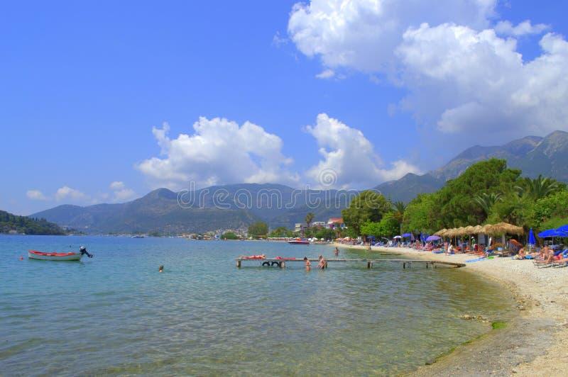 Download Beau Bord De La Mer D'île De Leucade, Grèce Image stock éditorial - Image du fleurs, jardin: 56485594