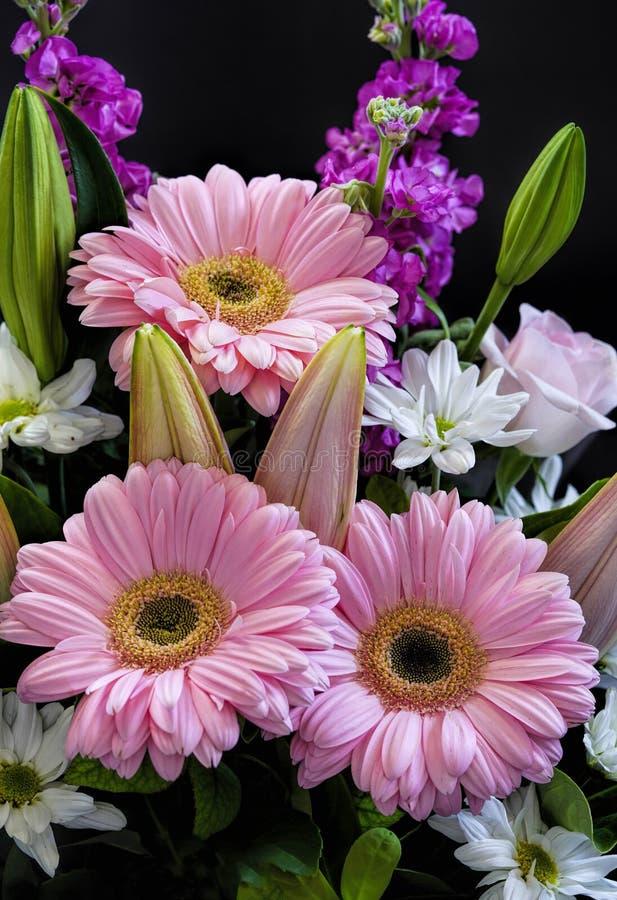 Beau bouquet coloré de diverses fleurs au printemps images libres de droits
