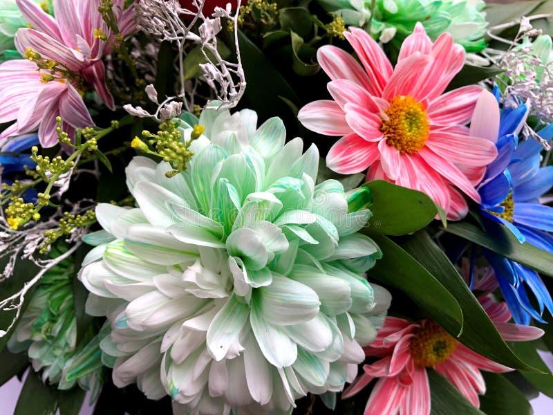 Beau bouquet de diff?rentes fleurs lumineuses color?es photo libre de droits