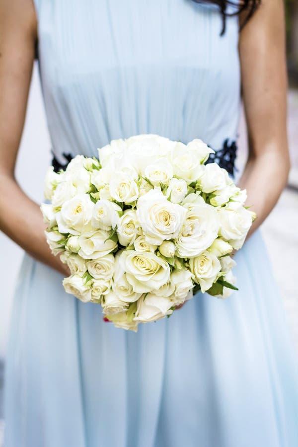 Beau bouquet de mariage, plan rapproché photos libres de droits