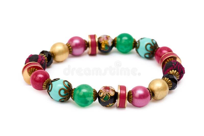 Beau bracelet de bijoux d'isolement sur le fond blanc photo stock
