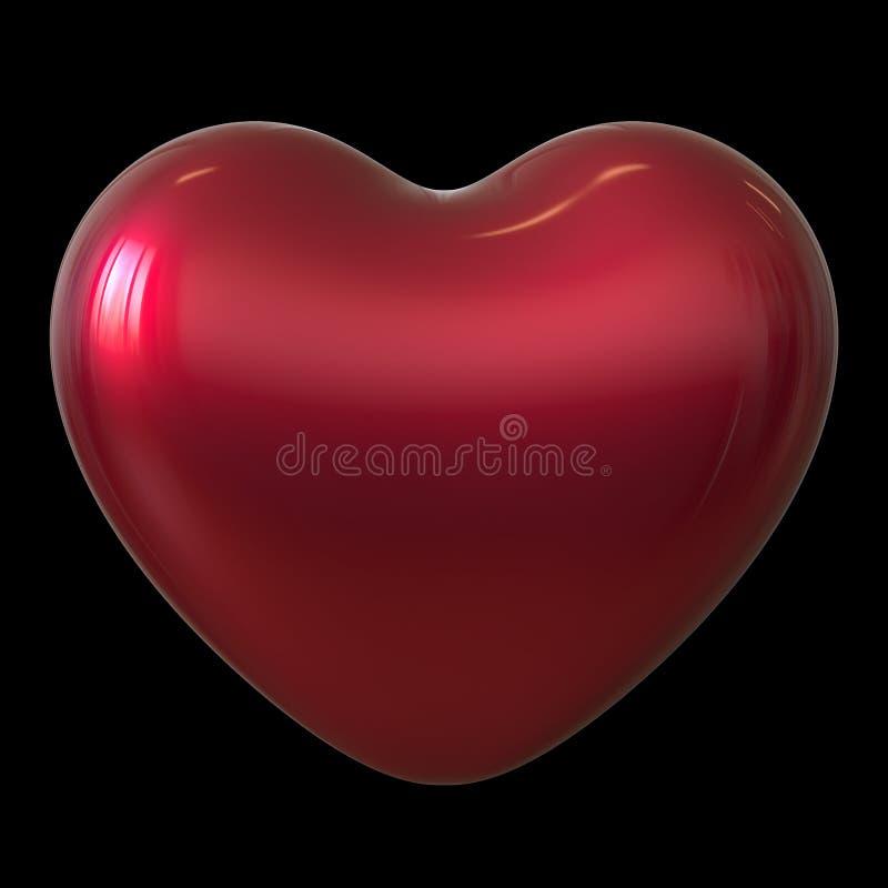 Beau brillant de coeur de forme de symbole rouge d'amour illustration de vecteur