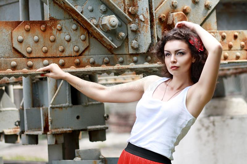 Beau brunette photos libres de droits