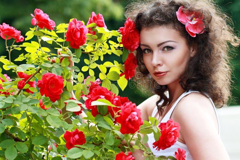 Beau brunette image stock