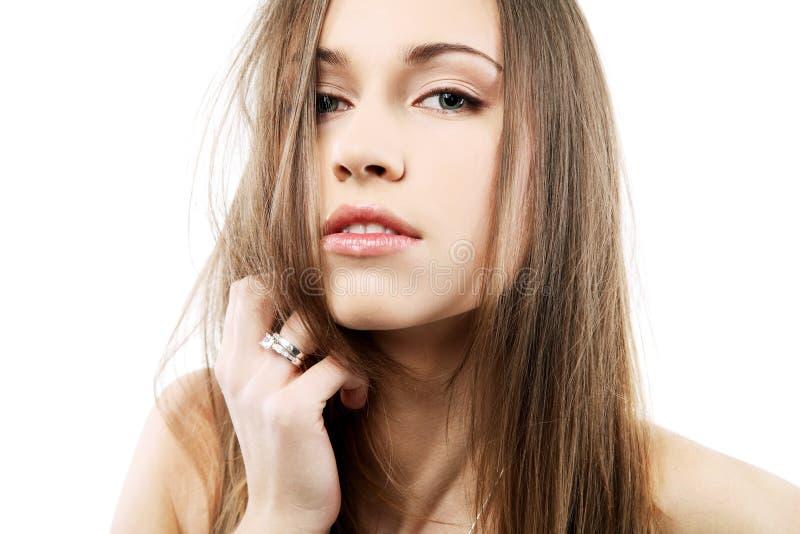 beau brunette séduisant photos stock