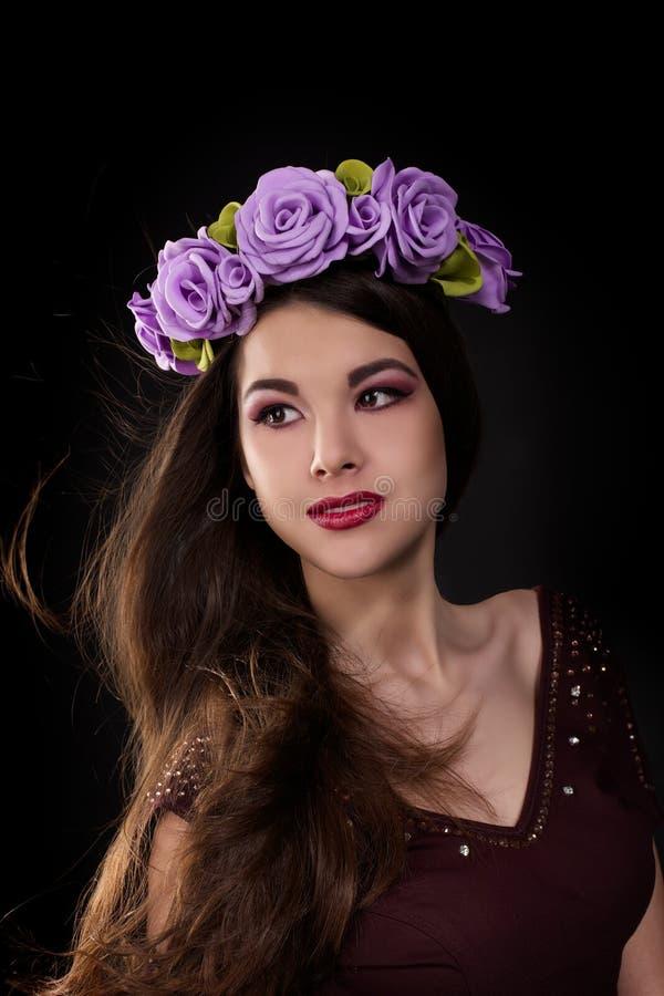 Beau brunette sexy photographie stock libre de droits