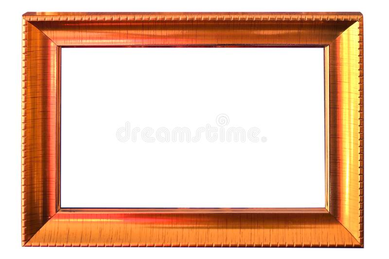 Beau cadre en bronze d'isolement sur le fond blanc image libre de droits