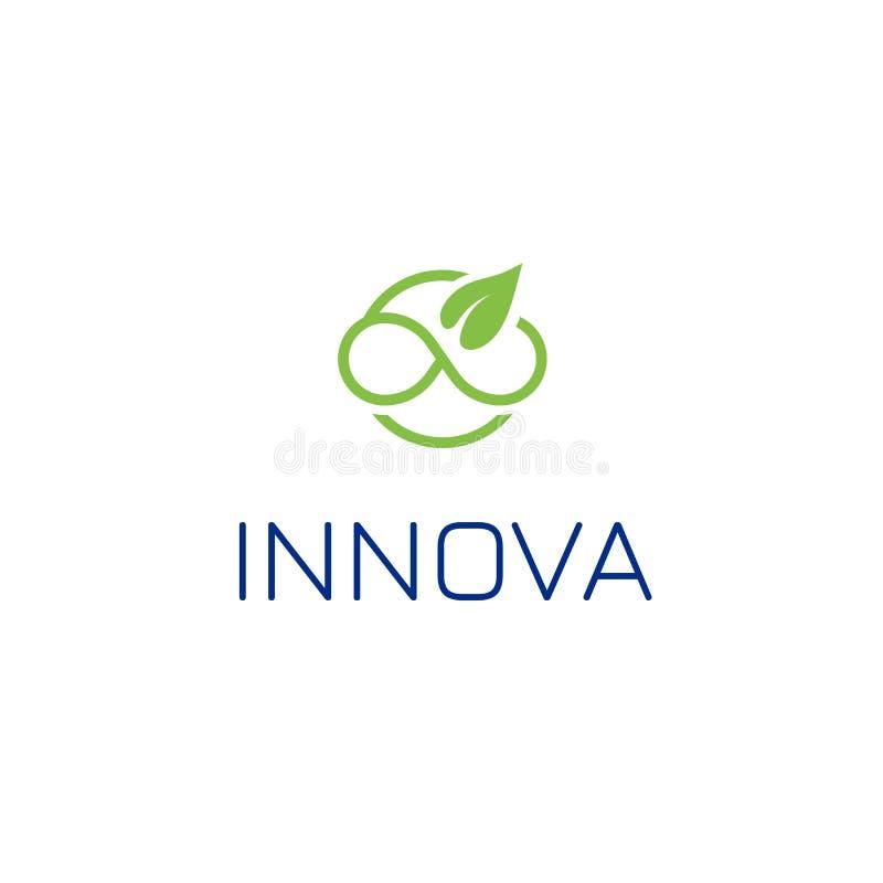 Beau calibre de logo de feuille, grande conception pour tous buts Infini, logo infini et sans fin de vecteur d'icône de symbole illustration de vecteur