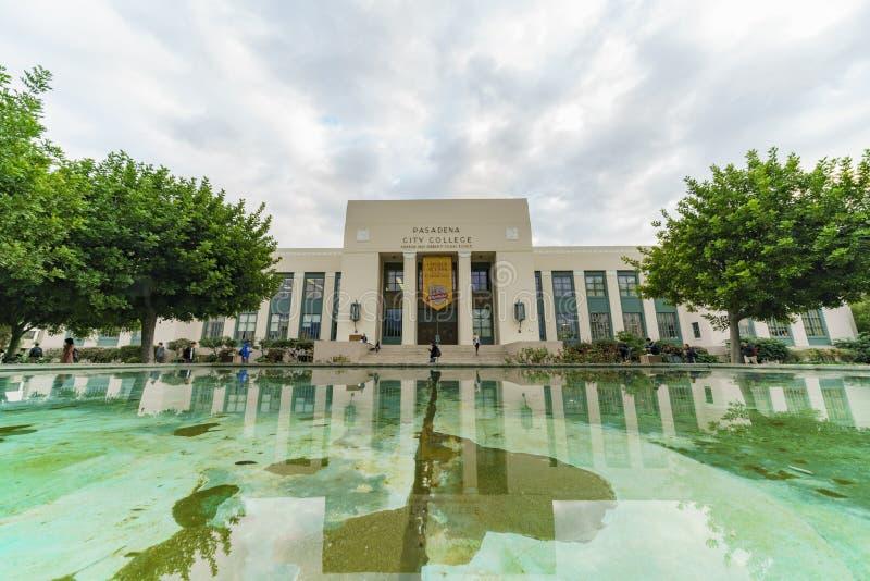 Beau campus de l'université de ville de Pasadena photo libre de droits