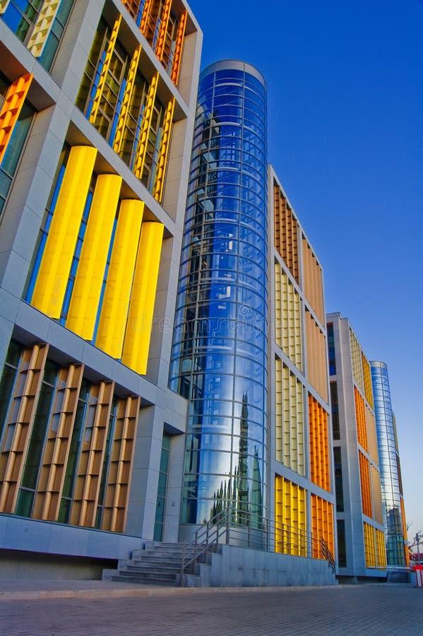 Beau centre d'affaires à Riga photo stock
