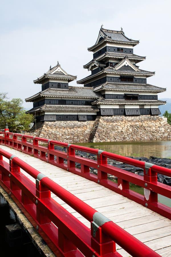Beau château médiéval Matsumoto dans le Honshu oriental, Japon photo stock