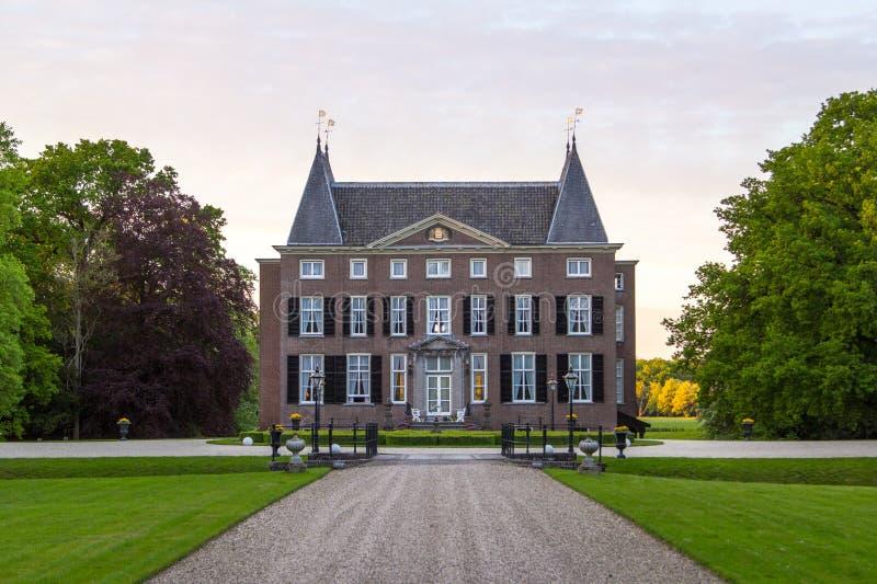 Beau château romantique de la Hollande près à Utrecht Pays-Bas photographie stock