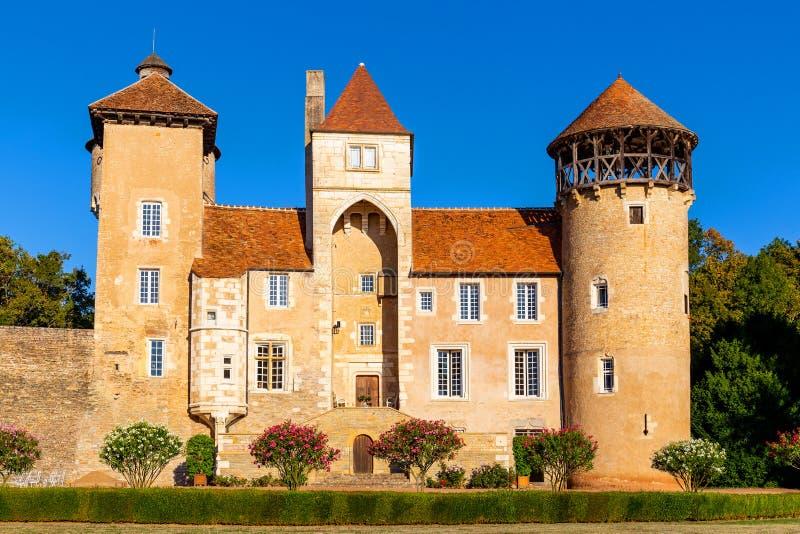 Beau ch?teau de Sercy dans la r?gion de Bourgogne, France photographie stock