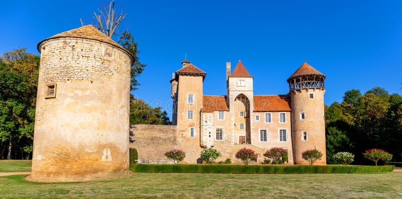 Beau ch?teau de Sercy dans la r?gion de Bourgogne, France image stock
