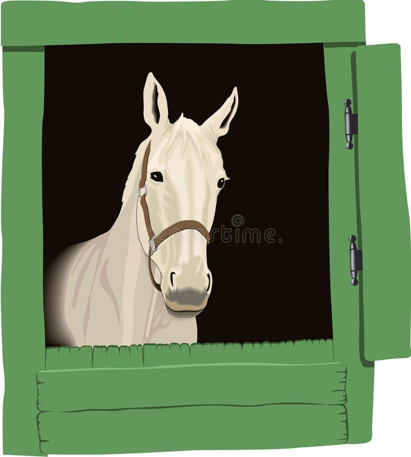 beau cheval de retrait de couleur illustration libre de droits