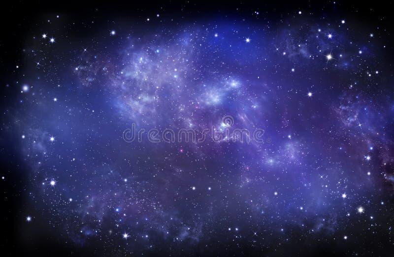 Beau ciel étoilé, nébuleuse galactique, fond de l'espace photographie stock