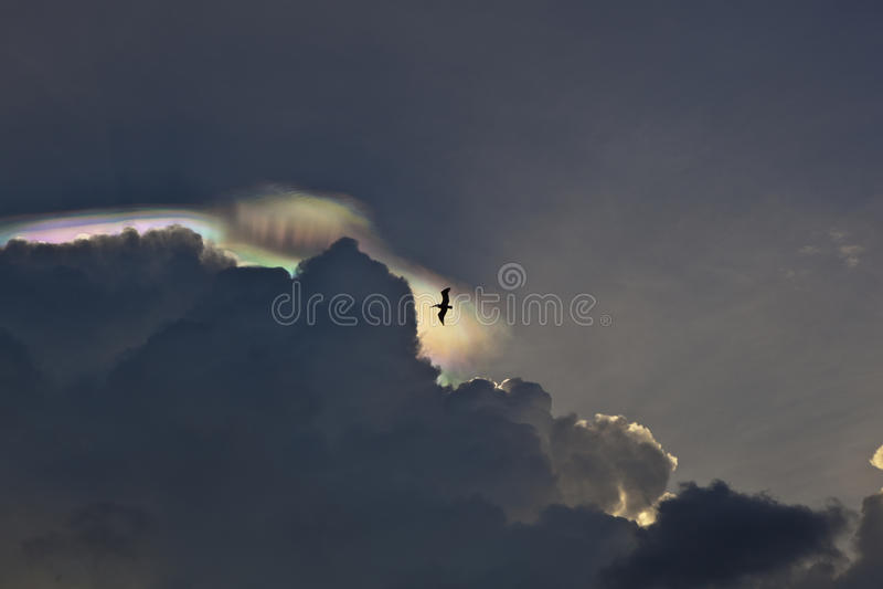 Beau ciel avec des nuages image libre de droits
