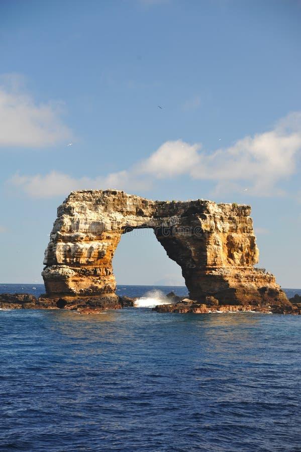Beau ciel bleu, voûte, l'océan pacifique d'îles de Galapagos, image libre de droits