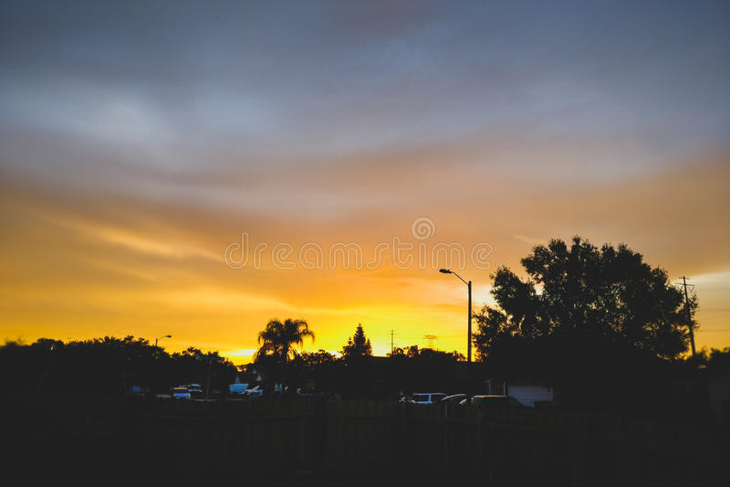 Beau ciel coloré images stock
