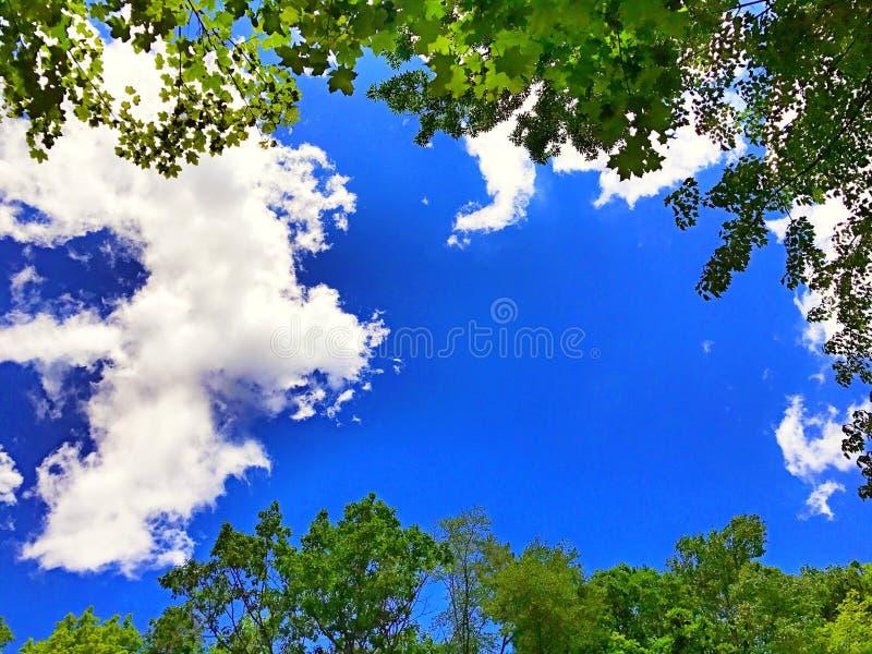 Beau ciel dans le Connecticut images stock