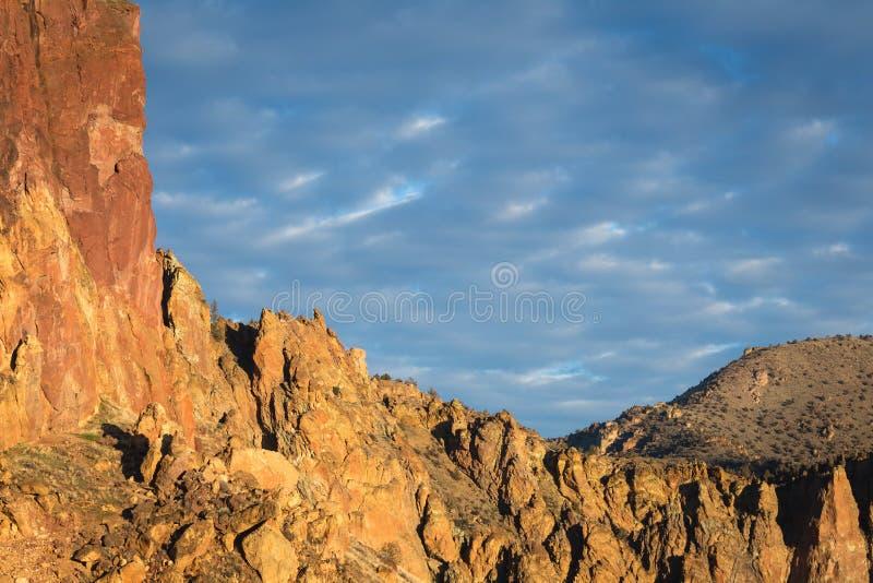 Beau ciel de matin de désert photo libre de droits