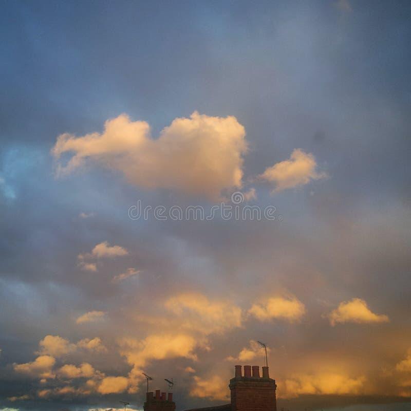 Beau ciel nostalgique photos libres de droits