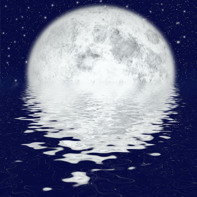 Beau clair de lune illustration libre de droits