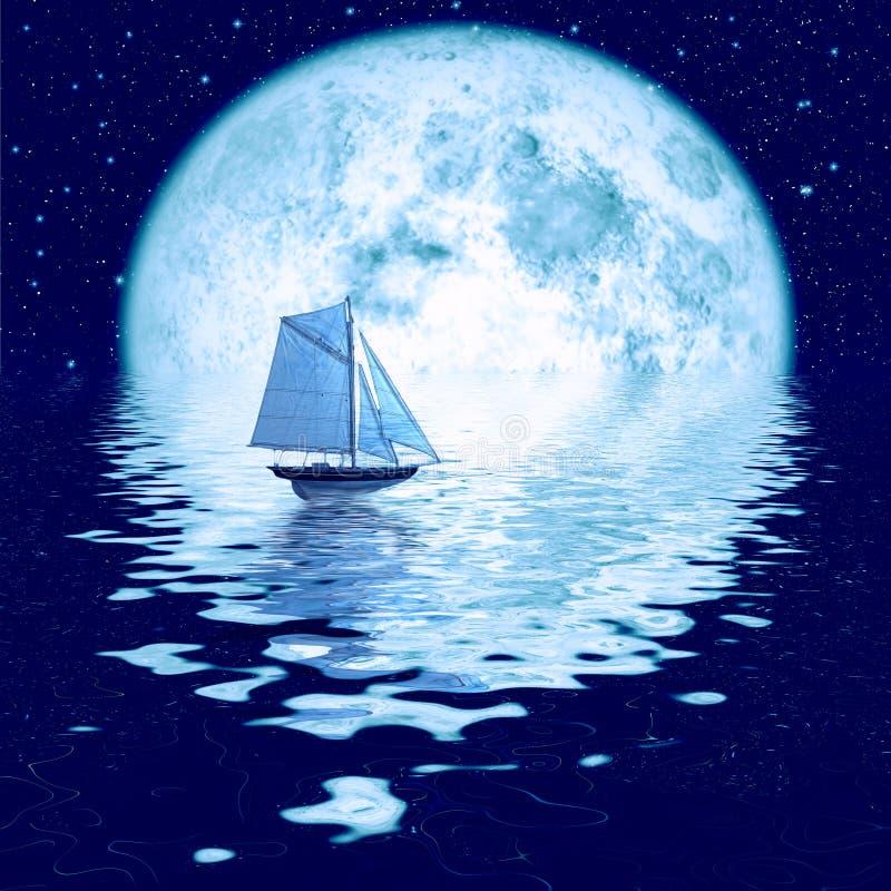 beau clair de lune image libre de droits