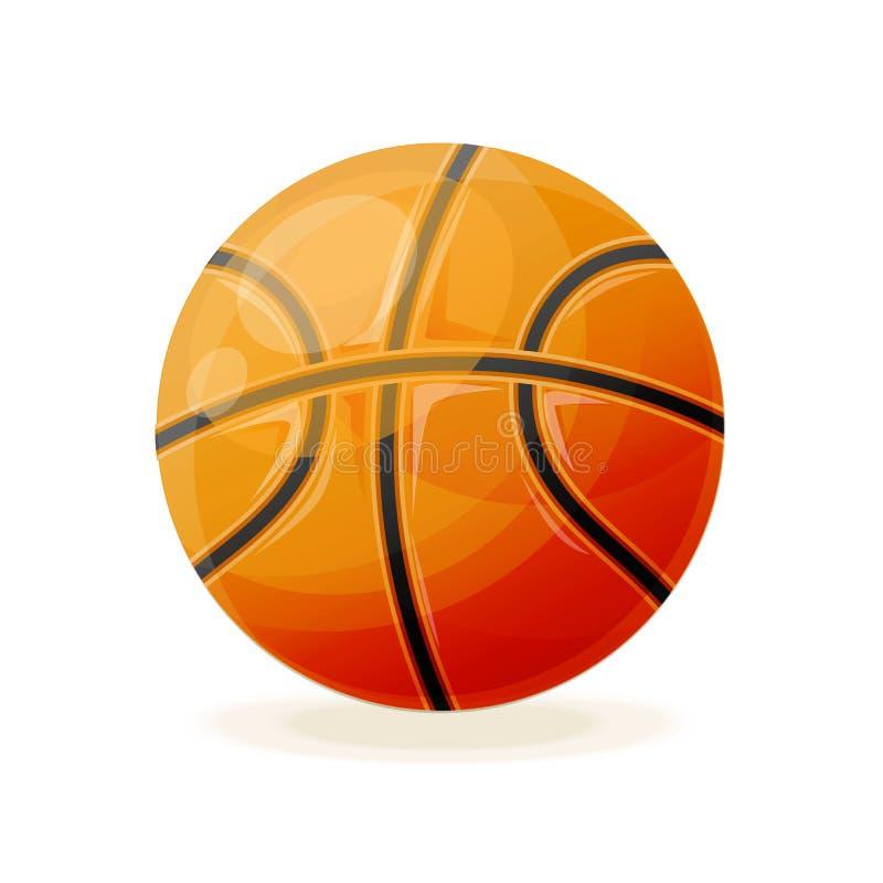 Beau classique réaliste, boule de basket-ball, pour jouer illustration libre de droits