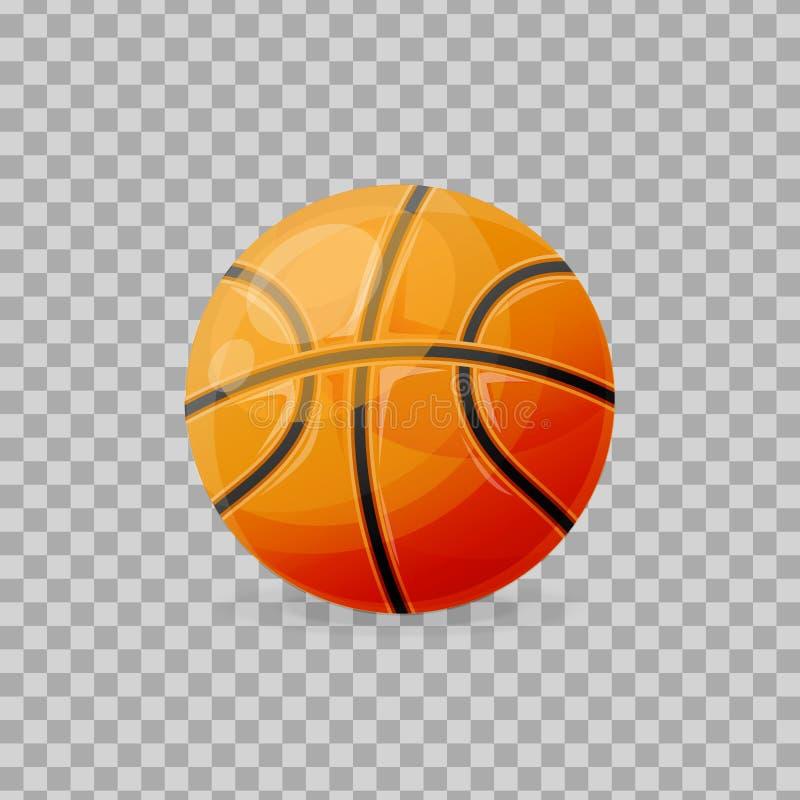 Beau classique réaliste, boule de basket-ball, pour jouer, jeu collectif illustration de vecteur