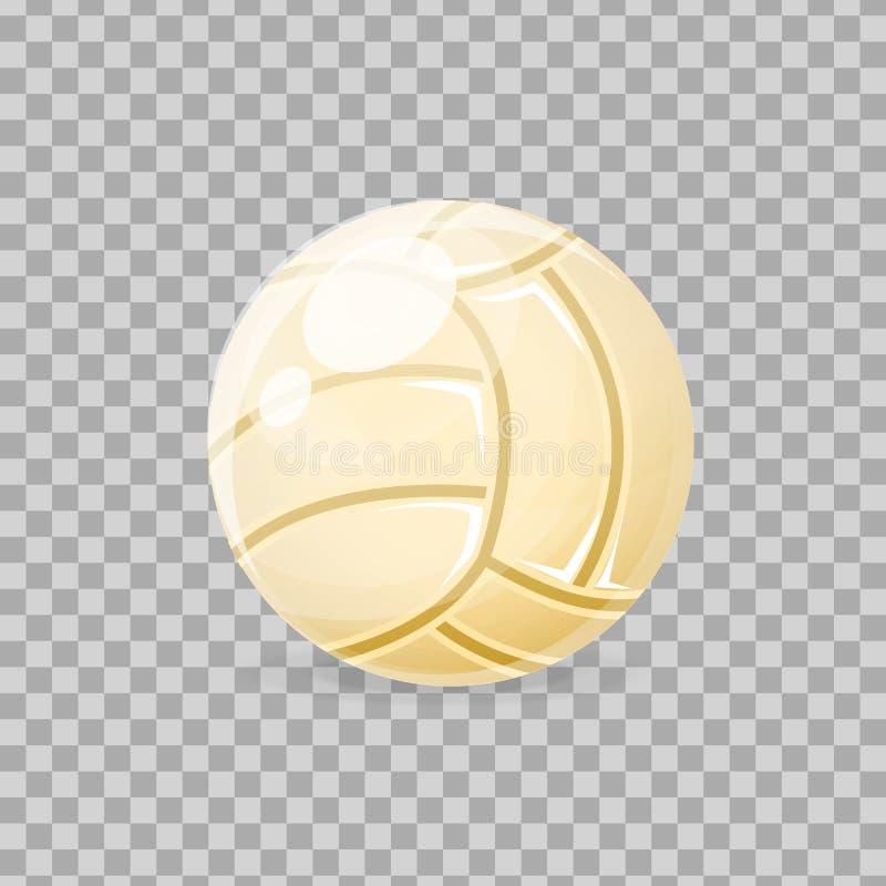 Beau classique réaliste, boule de volleyball, pour jouer, jeu collectif illustration stock