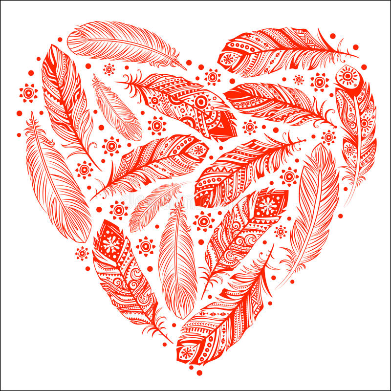 Beau coeur de Saint-Valentin illustration de vecteur