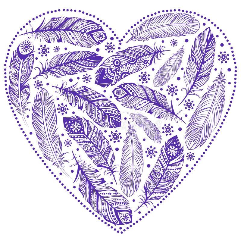 Beau coeur de Saint-Valentin illustration stock