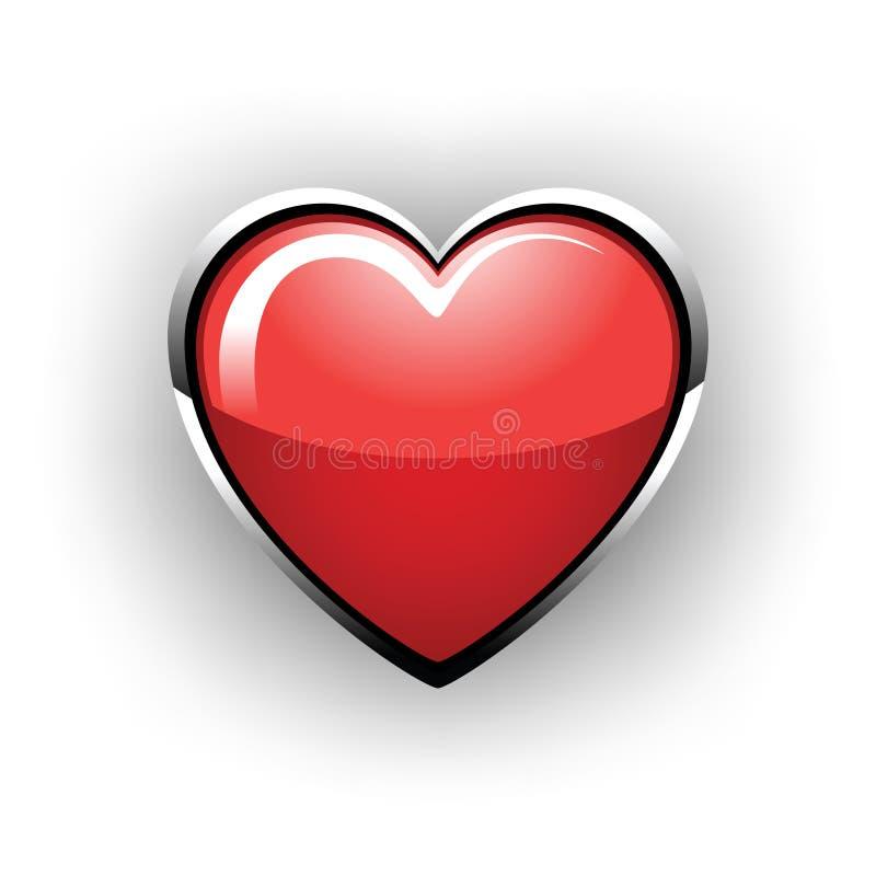 Beau coeur lustré illustration libre de droits