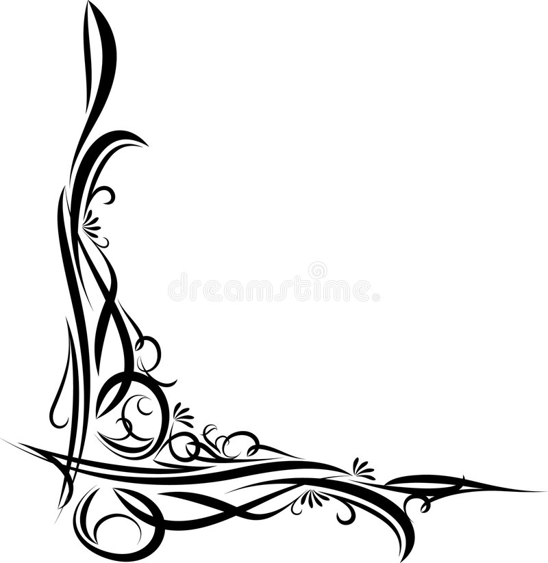 Beau coin floral illustration stock