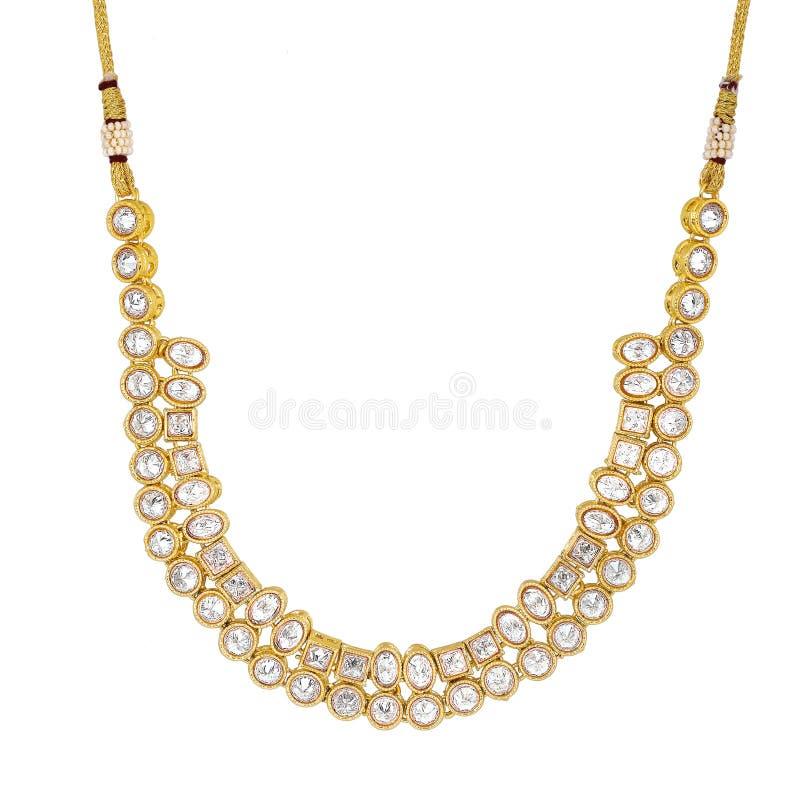 Beau collier blanc de fantaisie de perle image libre de droits