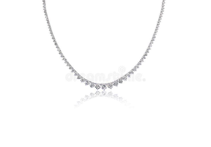 Beau collier de diamant photo stock