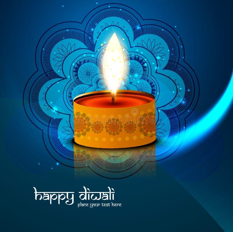 Beau coloré bleu heureux de Diwali